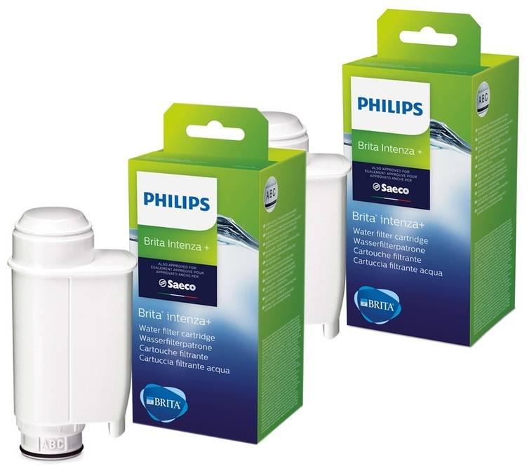 Philips Lot De 2 Filtres Intenza + Brita Ce702/10 Pour Machine Philips