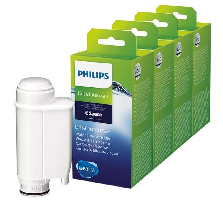 Philips Lot De 4 Filtres Intenza + Brita Ce702/10 Pour Machine Philips