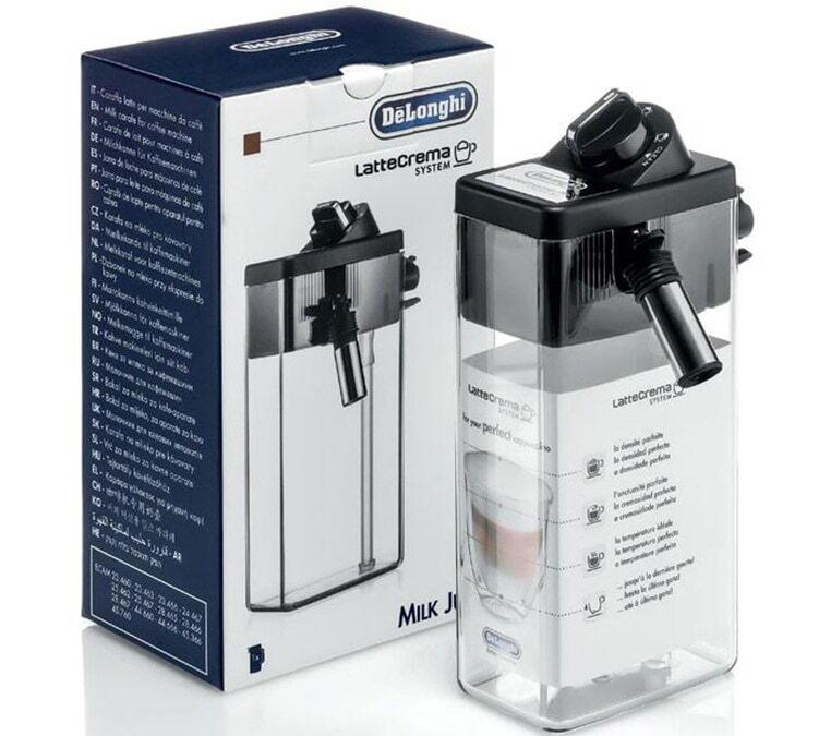 DeLonghi Carafe à lait de remplacement pour 28.465MB, 44.660B, 45.760W, 550.55.SB