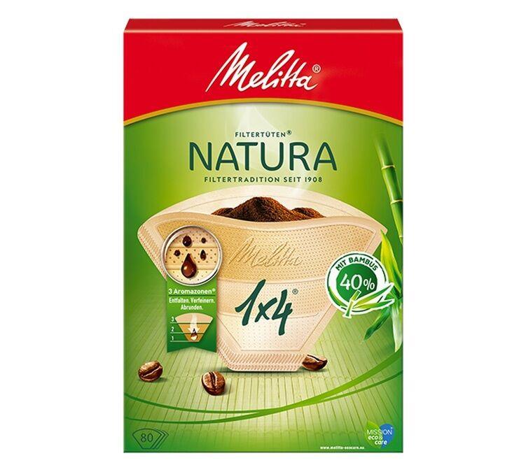 Melitta 80 Filtres À Café Natura 1x4 Bambou - Melitta