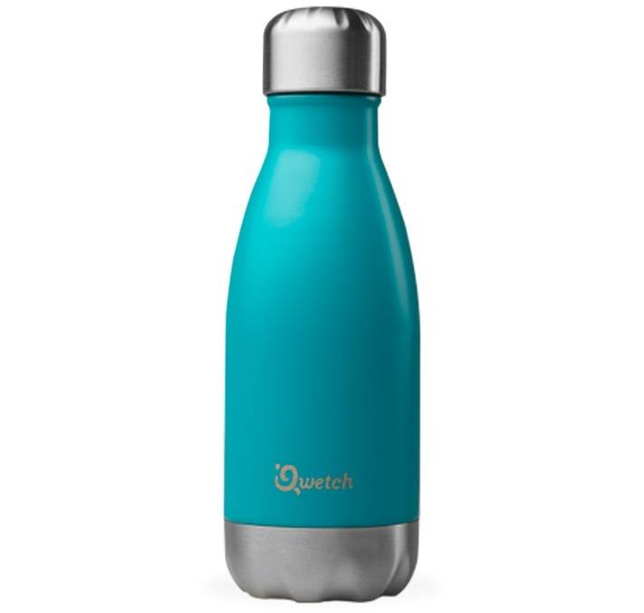 Qwetch Bouteille isotherme inox bleu turquoise 26 cl - Originals Qwetch - 26.0000 cl