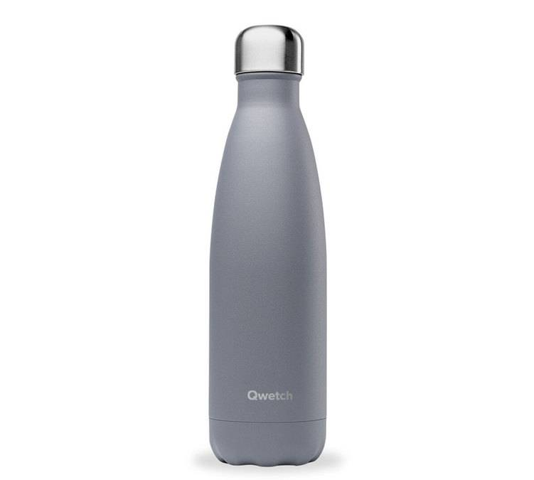 Qwetch Bouteille isotherme inox Granite Gris 500ml - QWETCH - 50.0000 cl