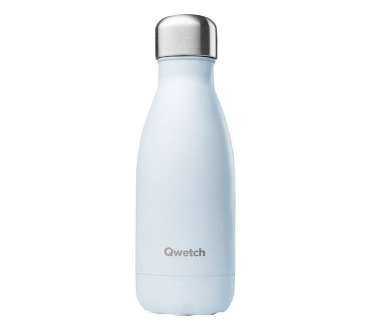 Qwetch Bouteille isotherme inox Bleu Pastel - 26 cl - QWETCH - 26.0000 cl