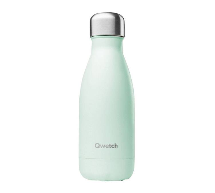 Qwetch Bouteille isotherme inox Vert Pastel 26 cl - QWETCH - 26.0000 cl