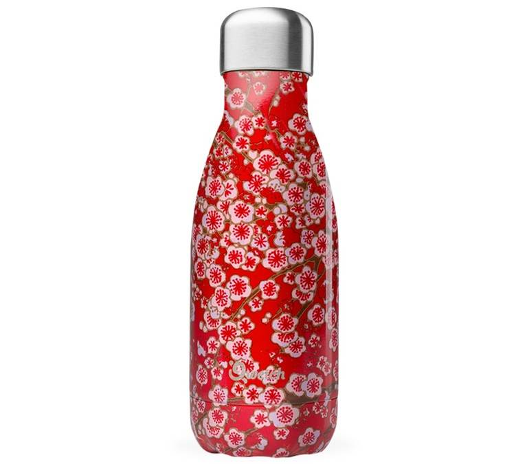 Qwetch Bouteille Isotherme Inox Rouge 26 Cl - Flowers Qwetch