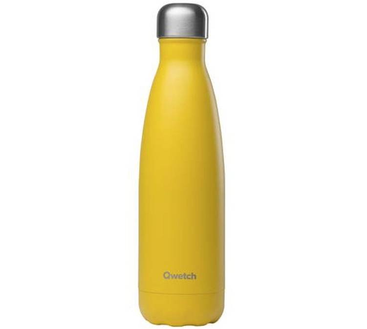 Qwetch Bouteille isotherme Jaune 50 cl - Collection Pop - Qwetch - 50.0000 cl