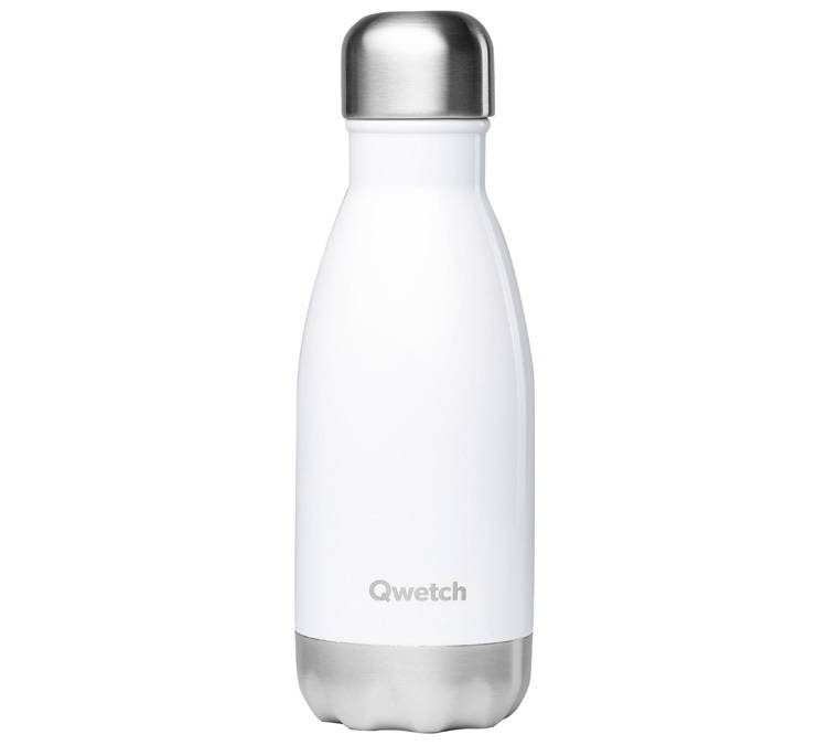 Qwetch Bouteille isotherme inox blanc 26 cl - Originals Qwetch - 26.0000 cl