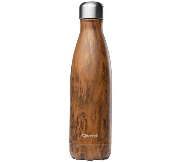 Qwetch Bouteille isotherme inox imitation bois 50 cl - Wood Qwetch - 50.0000 cl