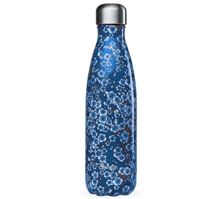 Qwetch Bouteille isotherme Qwetch Flowers Bleu - Inox - 50 cl - 50.0000 cl