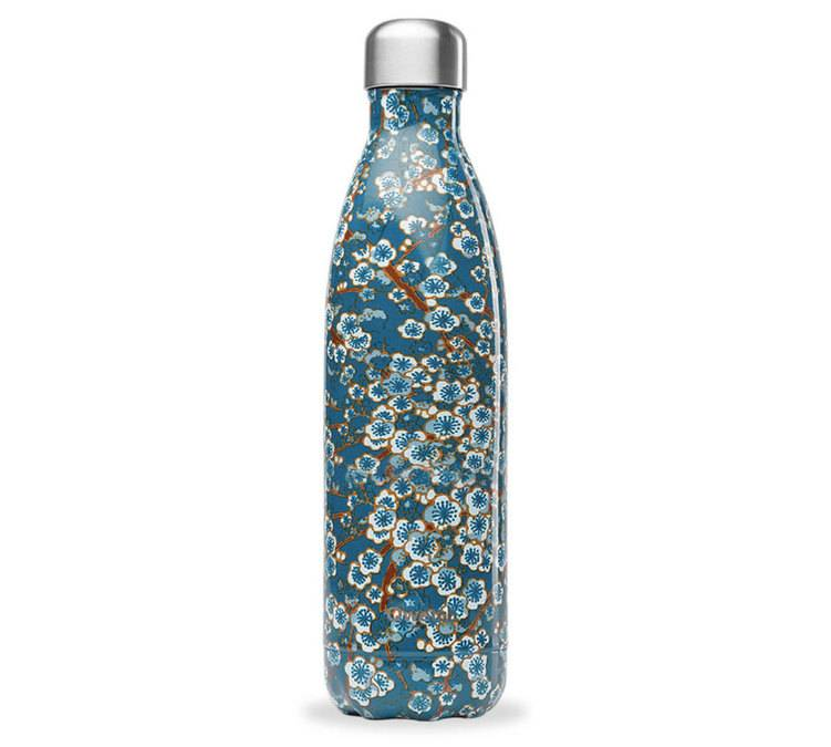 Qwetch Bouteille isotherme Bleu 75 cl - Collection Flowers - Qwetch - 75.0000 cl