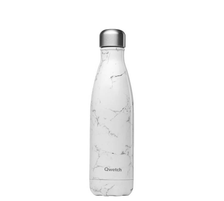 Qwetch Bouteille isotherme inox Marbre Blanc 50 cl - QWETCH - 50.0000 cl