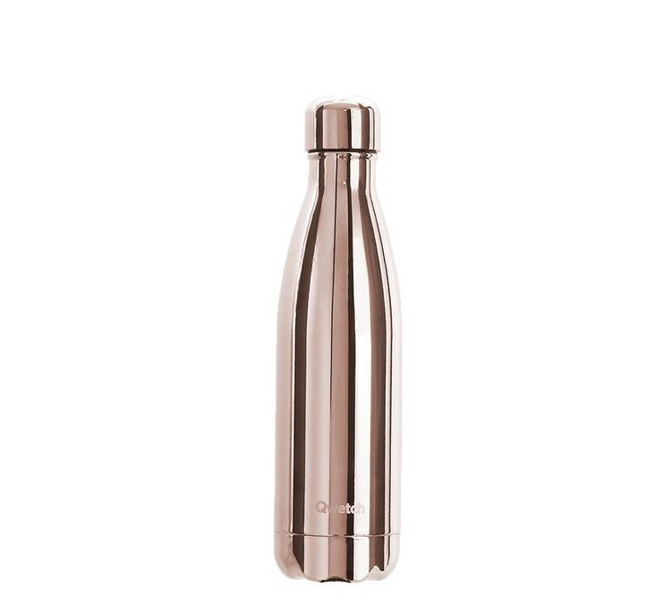 Qwetch Bouteille isotherme inox - Metal Rose Gold - 500ml + pochette coton bio - QWETCH - 50.0000 cl