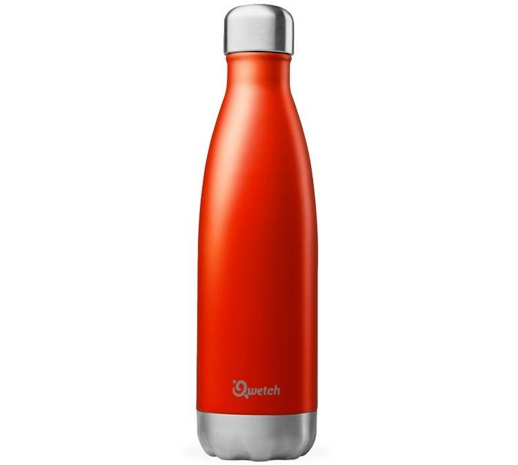 Qwetch Bouteille isotherme inox rouge brillant 50 cl - Originals Qwetch - 50.0000 cl