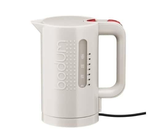 Bodum Bouilloire électrique Bodum Bistro blanc crème 1L - Sans BPA