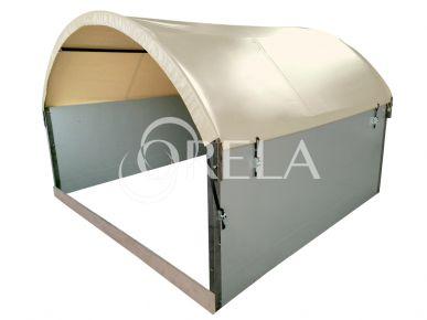 Orela Abri à veau collectif - 12m² - 9 veaux Orela ABRI9V1