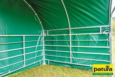 Patura Bâche de protection intempéries pour boxe mobile compact sur panels partie latérale 6m Patura 313083