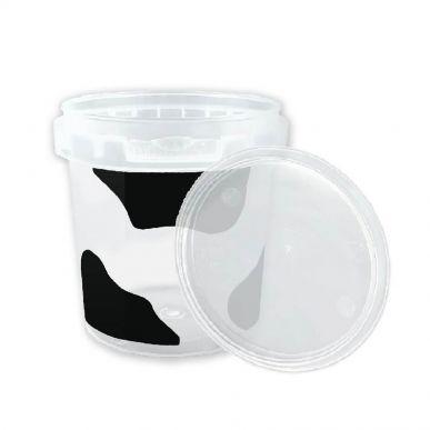 Fdstore Mukketto 150 noir pour aliments - Boîte de 1200 pcs (bocal + couvercle) Fdstore MUKKETTO150B