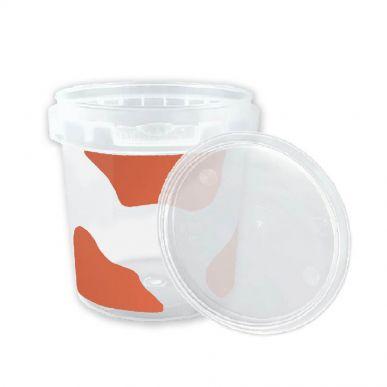 Fdstore Mukketto 150 rouge - Paquet de 1200 pcs (bocal + couvercle) Fdstore MUKKETTO150R