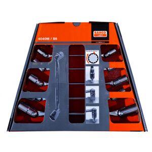 Bahco Jeu de 6 clés à douilles articulées métrique support mural - 4040M/S6 - Bahco 4040M/S6 - Publicité