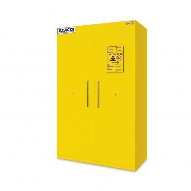 EXACTA Armoire de sécurité anti-feu 90 minutes haute 2 portes pour produits inflammables - EN 14470-1 et EN 16121 EXACTA EOF232BBACMY11J