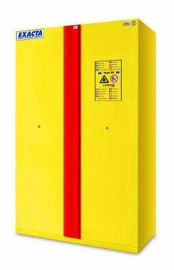 EXACTA Armoire de sécurité anti-feu 90 minutes haute 2 portes pour produits inflammables et étagères acier - EN 14470-1 et EN 16121 EXACTA EOF232BMY11J