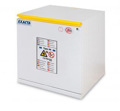 EXACTA Armoire de sécurité anti-feu 90 minutes sous-paillasse 1 porte L 600 pour produits inflammables - Ouverture tiroir - EN 14470-1 et EN 16121 EXACTA EOF606T