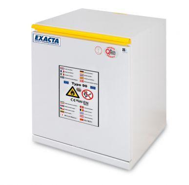 EXACTA Armoire de sécurité anti-feu 90 minutes sous-paillasse 1 porte L 600 pour produits inflammables - Ouverture tiroir - EN 14470-1 et EN 16121 EXACTA EOF706T