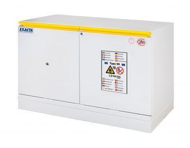 EXACTA Armoire de sécurité anti-feu 90 minutes sous-paillasse 2 portes L 1100 pour produits inflammables - EN 14470-1 et EN 16121 EXACTA EOF611