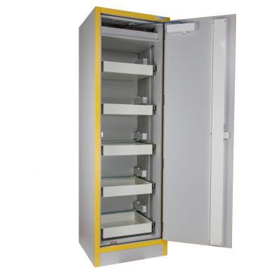 Trionyx Armoire de sécurité EN 14470-1 - 30 minutes pour produits inflammables - haute 1 porte - 5 tiroirs coulissants Trionyx 3034T5