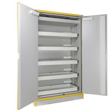Trionyx Armoire de sécurité EN 14470-1 - 30 minutes pour produits inflammables - haute 2 portes - 5 tiroirs coulissants Trionyx 3035T5