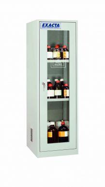 EXACTA Armoire de sécurité haute 1 porte vitrée pour produits chimiques - 1 compartiment - EN 16121 EXACTA E0103PG/D