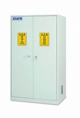 EXACTA Armoire de sécurité haute 2 portes pour produits chimiques - 1 compartiment - Etagères coulissantes - EN 16121 EXACTA EO106PS