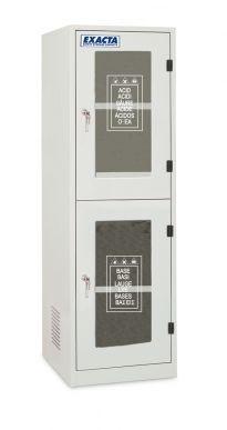 EXACTA Armoire de sécurité haute 2 portes vitrées pour produits chimiques - 2 compartiments - EN 16121 EXACTA EOB62V