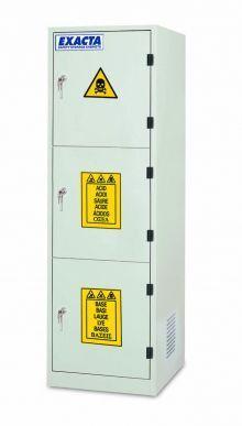 EXACTA Armoire de sécurité haute 3 portes pour produits chimiques - 3 compartiments - EN 16121 EXACTA EOB63