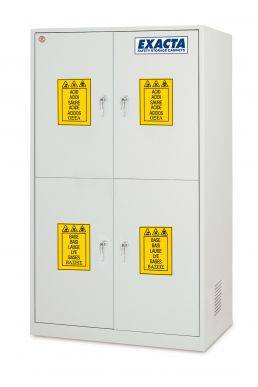 EXACTA Armoire de sécurité haute 4 portes pour produits chimiques - 4 compartiments - EN 16121 EXACTA EO104P/4C