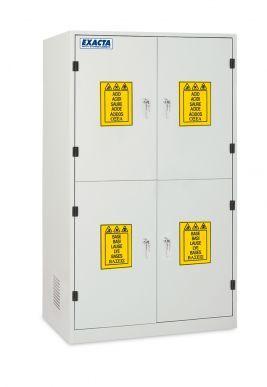 EXACTA Armoire de sécurité haute 4 portes pour produits chimiques - 4 compartiments - EN 16121 EXACTA EOB124