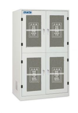 EXACTA Armoire de sécurité haute 4 portes vitrées pour produits chimiques - 4 compartiments - EN 16121 EXACTA EOB124V