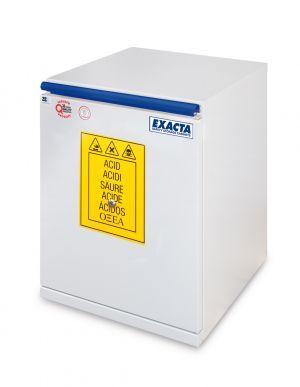 EXACTA Armoire de sécurité sous-paillasse 1 porte L 400 pour produits acides - EN 16121 EXACTA EO604AG