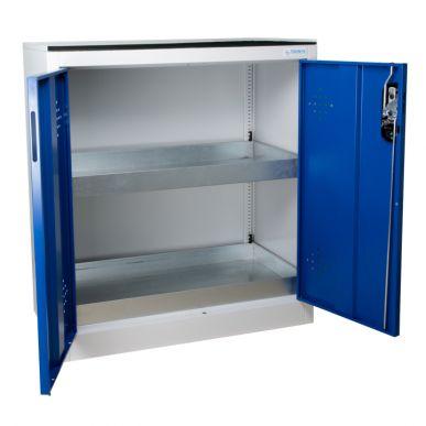 Trionyx Armoire de sûreté pour produits dangereux - Comptoir 2 portes bleues Trionyx AZ110B