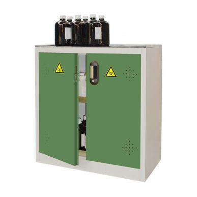 Trionyx Armoire de sûreté pour produits dangereux - Comptoir 2 portes vertes Trionyx AZ110V