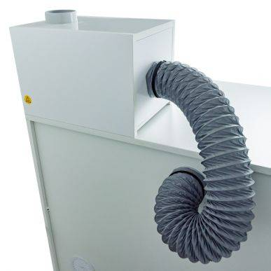 Trionyx Caisson de filtration en PVC équipé d'un filtre à charbon actif pour vapeurs organiques et corrosives Trionyx CDF-P