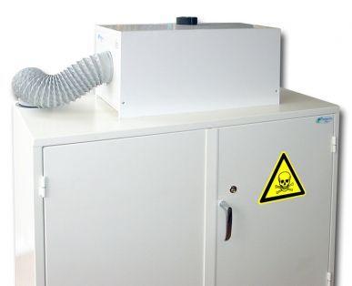 Trionyx Caisson de filtration équipé d'un filtre à charbon actif pour vapeurs organiques - Débit 86 m3/h Trionyx CDF-A