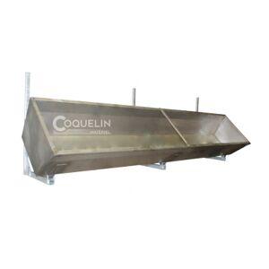 Coquelin matériel Rallonge d'auge inox 1m avec supports muraux galvanisés Coquelin Matériel AUGINOXSM1 - Publicité