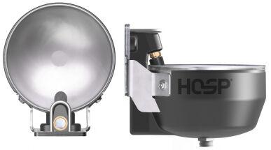 Hosp GmbH Abreuvoir E/2 HeatX pour vaches et chevaux, résistant au gel avec chauffe-eau continu Hosp 100026