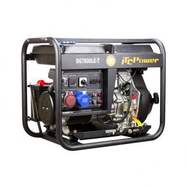 ITC Power Groupe électrogène Diesel 7.0Kva - 6.5kw ''Full Power'' 400V Et 230v AVR ITC Power DG7800LET