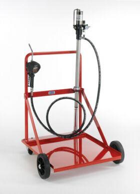 Flexbimec Chariot de transfert d'huile Kit pour fûts de 208 l comprenant: pompe 3: 1, contre-écrou, Tuyau de 3 m, pistolet avec compteur numérique, groupe de tr 2991