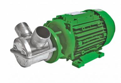 Zuwa Pompe en acier inoxydable avec impulseur moteur, presse-papiers / PTC, NIROSTAR bleu 2000-D / PF, 1400 min-1, 400 V Zuwa 190030KPTC