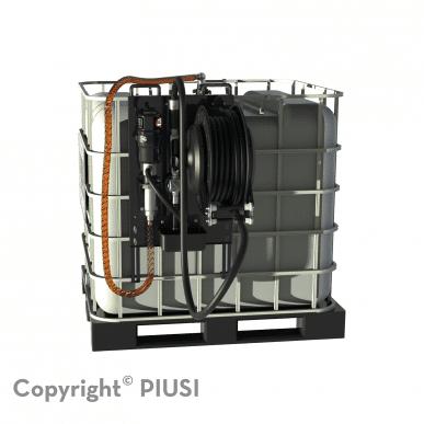"""Piusu Set de livraison de pétrole pour IBC, pneum. Pompe 5:1, HDZ, enrouleur de tuyau 15 m x 1/2"""". PIUSI P4045"""