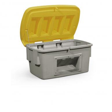 Asecos Bac à sable/sel de 200 litres en polyéthylène (Plastique), avec ouverture d'écoulement 12497