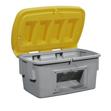 Asecos Bac à sable/sel de 700 litres en polyéthylène (Plastique), avec ouverture d'écoulement 13342